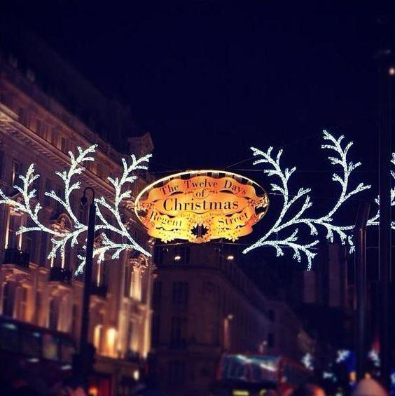 London's iconic Regent Street Christmas Lights.