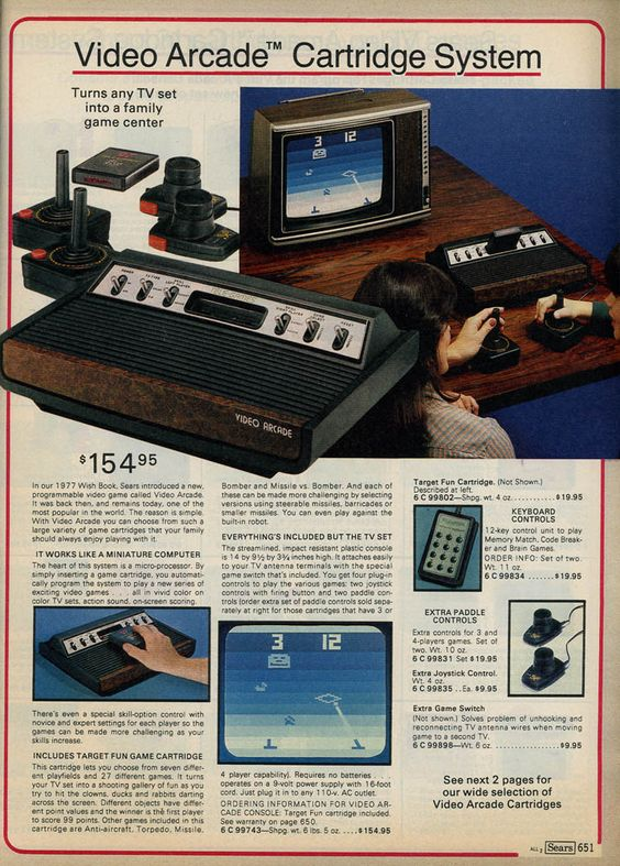 Tele-Games Atari 2600 in the 1979 Sears Christmas Wish Book.: