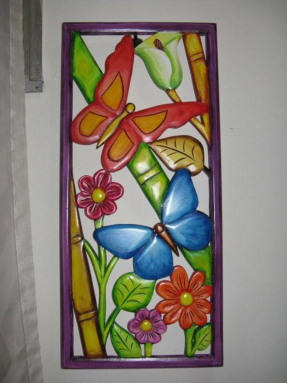 Imagenes de mariposas pintadas en madera buscar con - Cuadros modernos con mucho color ...