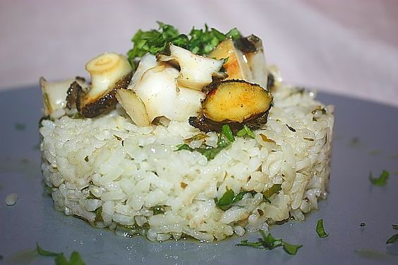 Occhi di bue su letto di riso