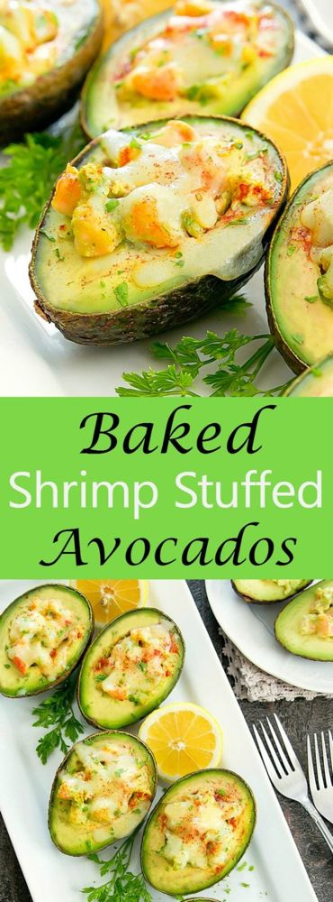Baked Shrimp Stuffed Avocados
