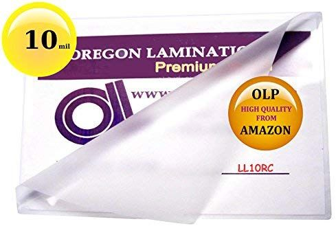Amazon Com 10 Mil Legal Laminating Pouches 9 X 14 1 2 Laminator Sleeves Qty 50 Paper Reinforcements Of Laminators Document Cameras Storing Craft Supplies