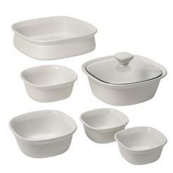 Corningware Etch 7-Piece Bakeware Set  White Linen