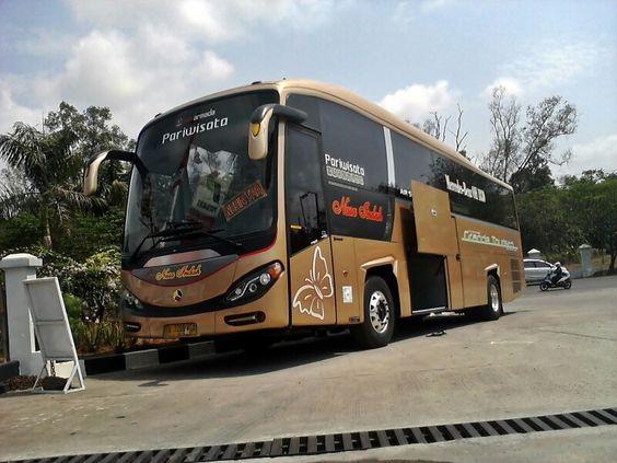 Indonesian Bus PO. NUSA INDAH BUS PARIWISATA Engine Mercedes-Benz OH 1830 Body Bus Evonext GT Caroserie New Armada Magelang, Jawa Tengah. Indonesia.