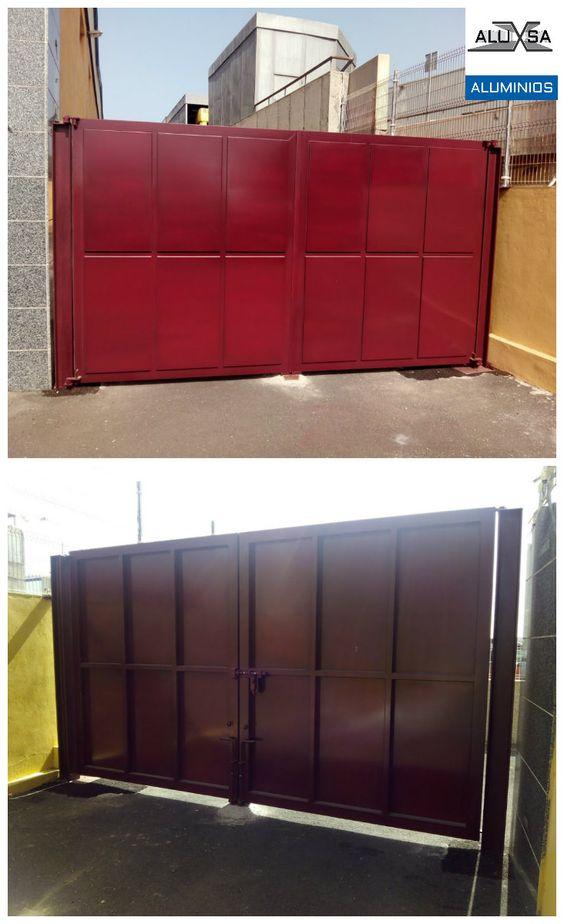 Puerta robusta en acero en galvanizado. Tenerife