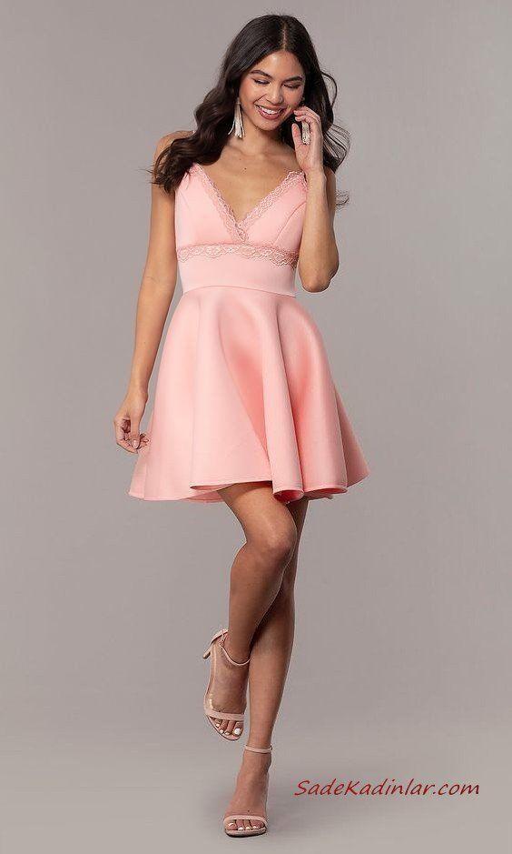 Genc Kizlar Icin Sade Ve Zarif Sik Abiyeler 2020 2020 The Dress Moda Stilleri Mini Elbise