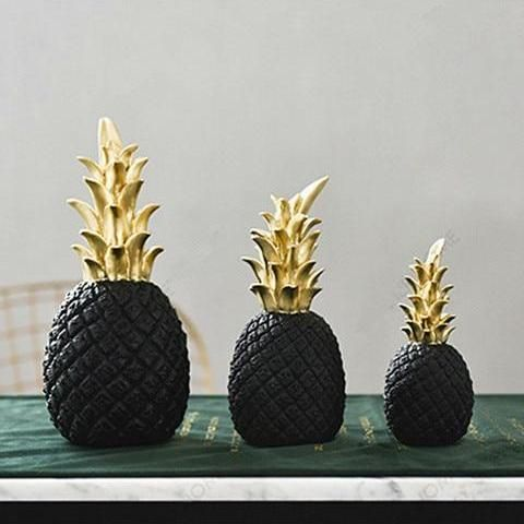 Black Pineapple Interior Decoration Nordic Style Home Accessories Pineapple Spark Pineapple Decor Nordic Style Pineapple