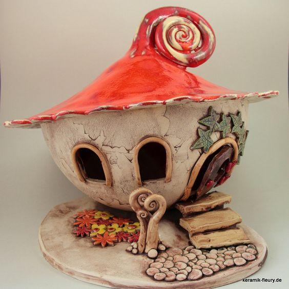 Gartendekoration keramik windlicht wichtel xl ein for Gartendekoration