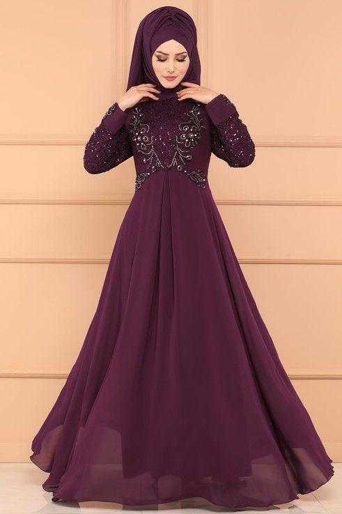 Modaselvim Abiye Pul Payet Ve Tasli Sifon Abiye Alm52718 Murdum Elbise Modelleri Elbiseler Elbise