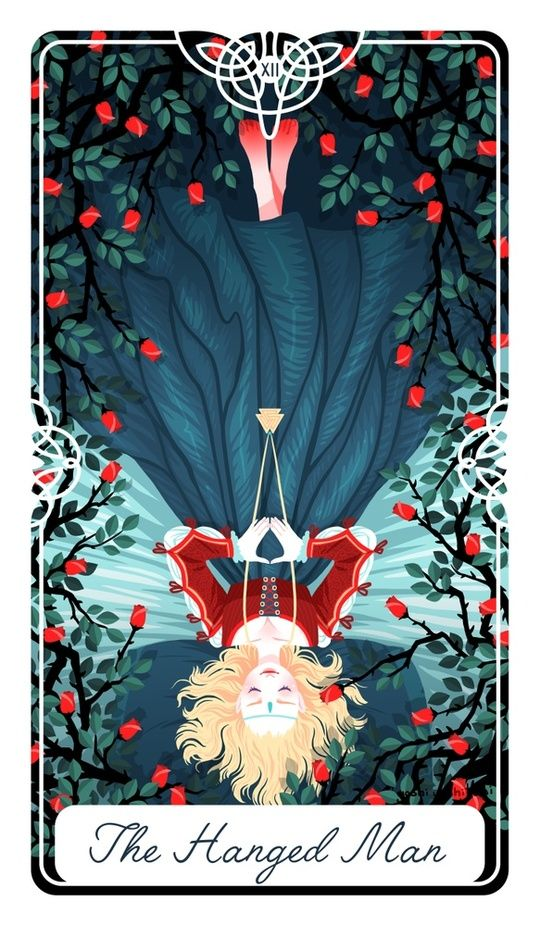 12 - The Hanged Man : Fairytale Tarot by Yoshi Yoshitani: