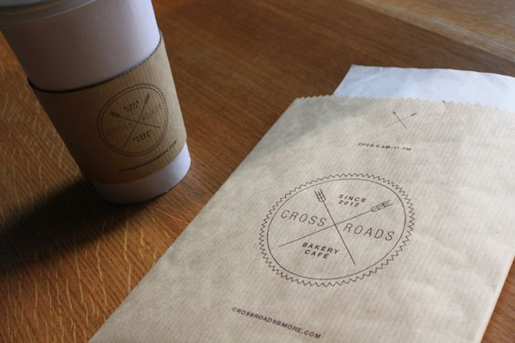 Crossroads Bakery Café Branding by Minhee Kim, via Behance