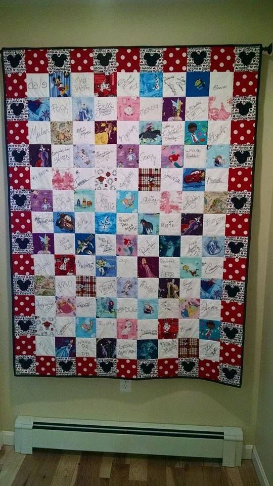Disney Autograph Quote Quilt by Disney Addict Andrea