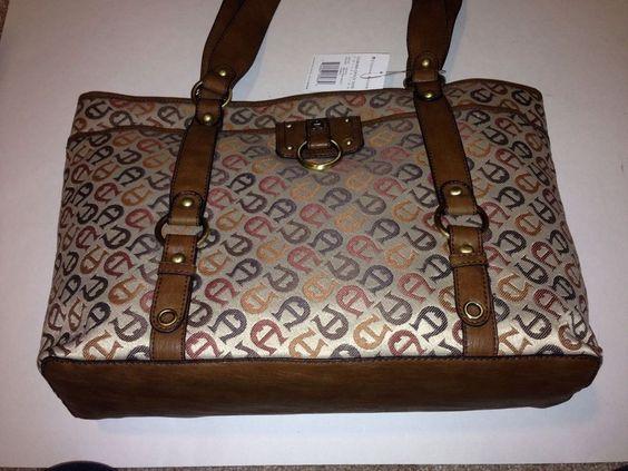 Etienne Aigner Corner Tote Collection Multi Faneu Handbag Classic NWT Premium #EtienneAigner #TotesShoppers