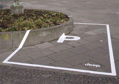 Jeep ad campaign in Copenhagen. Pretty creative.