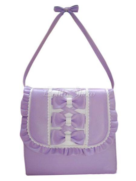 Fashion Bows PU Leather Lolita Bag - Lolitashow.com