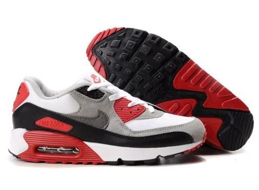 air max 90 blanc noir rouge