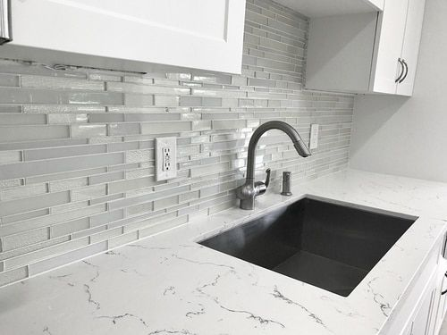 Anora Snow White Mosaic Glass Tile In 2019 White Glass Tile