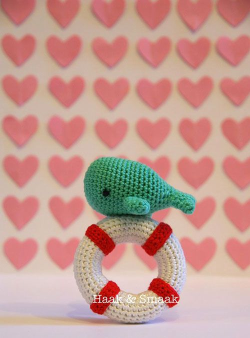 Adventure Time Amigurumi Pattern Free : Whale Lifebuoy Rattle Crochet Pattern (FREE) - http ...