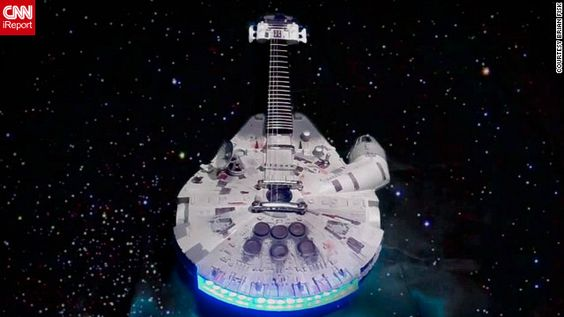 You know you wanna rock out with a Millennium Falcon guitar!