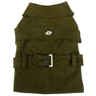 Pet Life Coast Guard Fashion Wool / Faux Fur Pet Coat - 16387823 - Overstock.com…