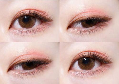 빛 복숭아 봄 메이크업~  a light peachy eye makeup for spring~