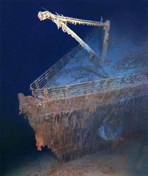 Image result for wreckage of the titanic found