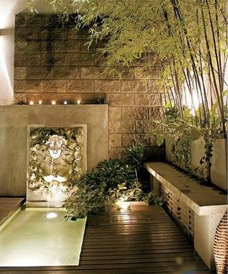Decorar pared pasillo exterior buscar con google patio - Decorar patios exteriores ...