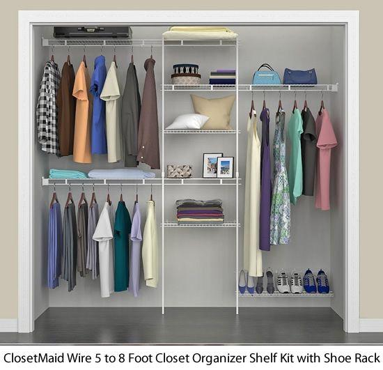Closetmaid Wire Shelving Kits And Prepacks Multipurpose Shelves