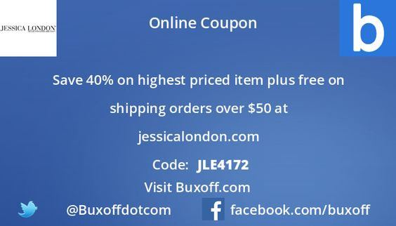 Latest jessica-london Coupon on Buxoff Visit to know more