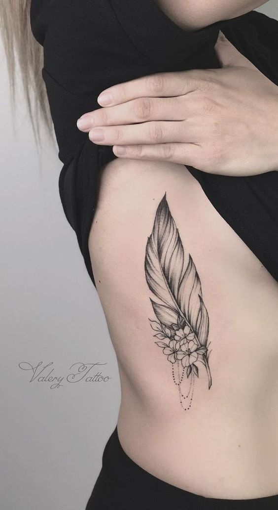 Brilliant Feather Tattoo Designs To Impress In 2020 Tattoos Feather Tattoo Design Feminine Tattoos