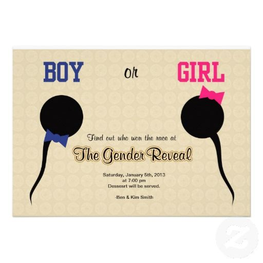 gender reveal – Zazzle Party Invitations