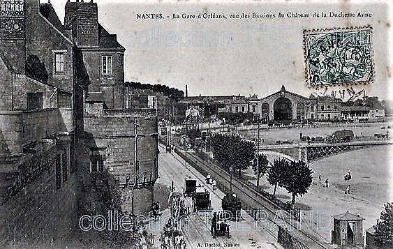 Nantes La Gare D Orleans Vue Du Chateau D Anne En 2020 Nantes Carte Postale Postale