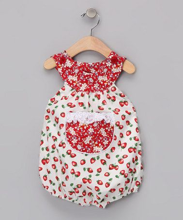 Strawberry Bubble Bodysuit - Infant by Beary Basics on #zulily!