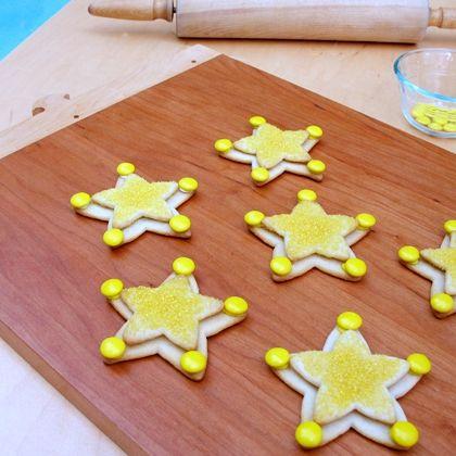 Tes biscuits en étoile de shérif