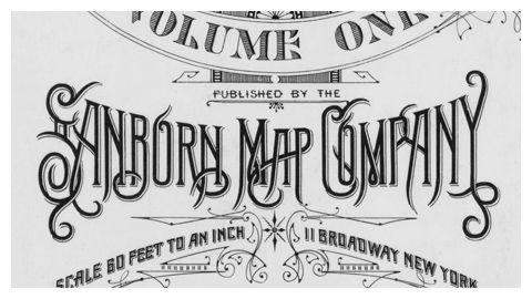 Sanborn maps logo Washington 1903