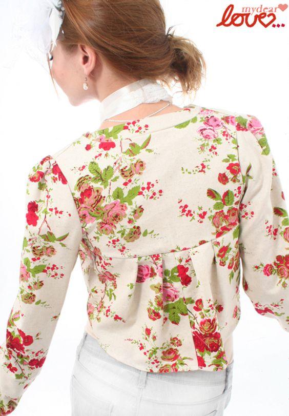 Brautstolen & -boleros - Festtagsfrack Colette, Creme Blüten - ein Designerstück von mydearlove bei DaWanda