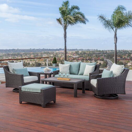 Northridge 6 Piece Sunbrella Sofa Seating Group With Cushions