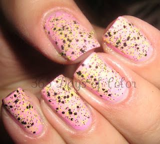 HUMBLE BEE AND PINK! nails