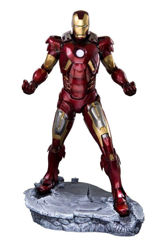 The Avengers - Iron Man Mark VII??Renewal package) 6/1 scale by Kotobukiya. - Statue Iron Man Mark VII Avengers- Système lumineux fonctionnant en continu ou sur détection de.