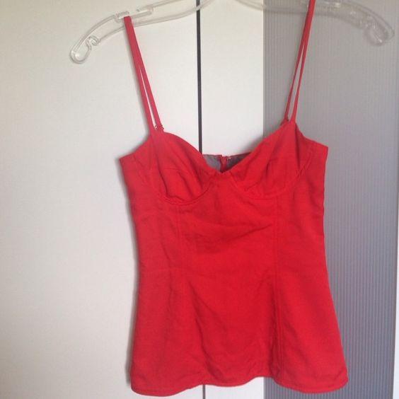 Mara Hoffman wire bra top Underwire red 100% silk Mara Hoffman Tops