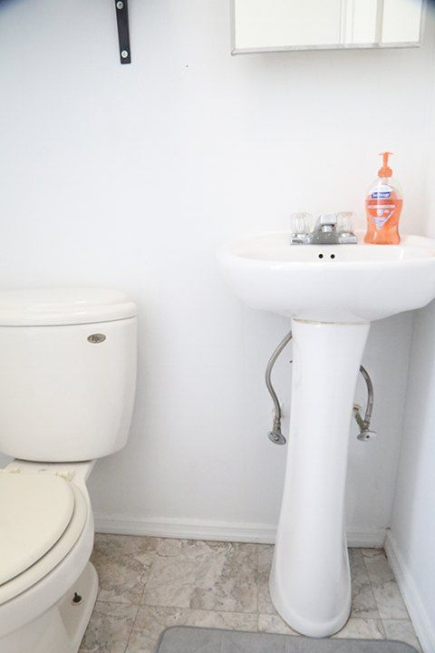 No Counterspace No Problem Transform The Space Of Your Tiny Bathroom With This Genious Ikea Hack Bathroom Diy Shelves Bathroom Diy Space Saving Diy Space