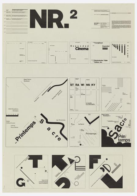 Wolfgang Weingart, Poster, 1974. Switzerland