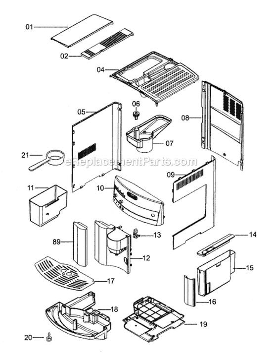 delonghi esam3300 parts list and diagram   ereplacementparts com