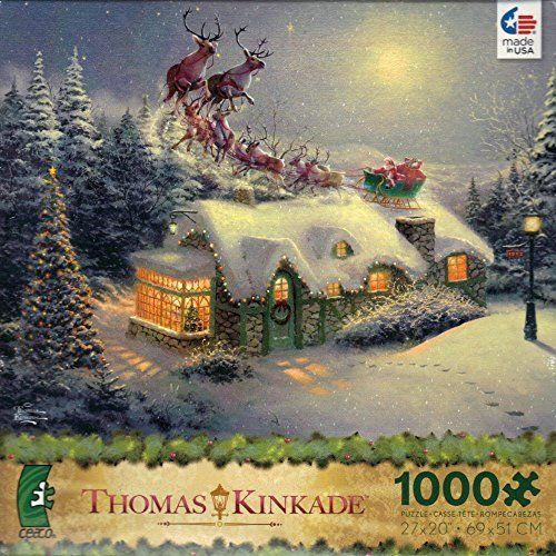 Puzzle-Home for the Holidays Thomas Kinkade Painter of Light 1000pc