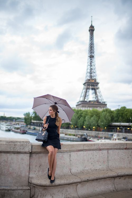 Little Black Dress In Paris Avenue des Camoens for best shots of Eiffel tower: