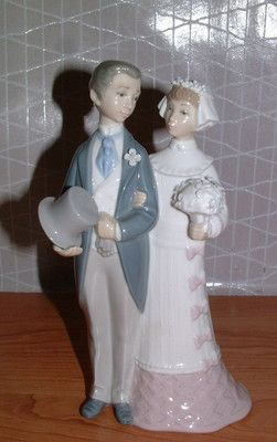 Lladro Groom Amp Bride Wedding Cake Topper 4808 Figurine