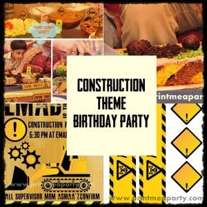 Free Printable Construction Theme Party