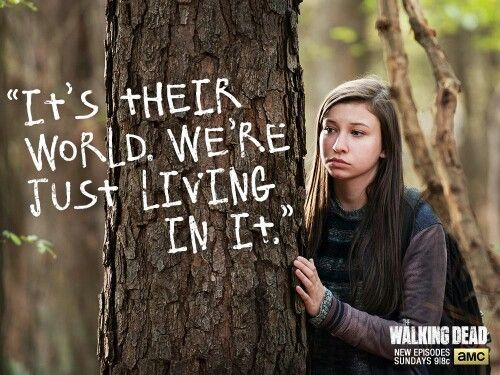 Love being able to watch the new episode of Walking Dead at 6pm before some others get too. Great episode tonight!  They even stated in tonight's episode that Enid went over the wall and is out there somewhere...remember me saying Enid is the one who comes across Glenn and saves him? My statement is looking more and more right with each episode. Just sayin;) lol. Can't wait till next Sunday!