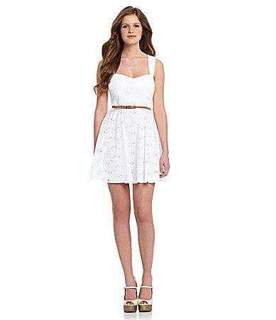 B Darlin Sweetheart Eyelet Dress #Dillards | Summer Lovin ...