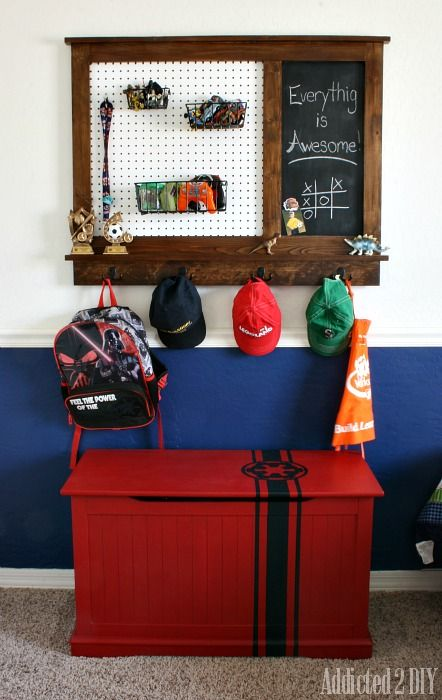 ... with Magnetic Chalkboard | Build Your Own, Organizers and Toy Boxes